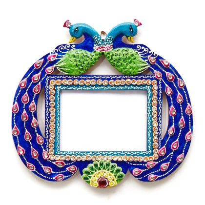 Double Peacock Photo Frame - Color Crave