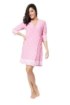 Mystere Paris Pretty In Pink Robe - Pink - Mystère Paris