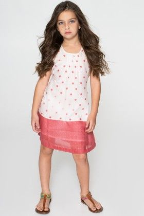 White & Pink Polka Dot Dress - Toddler & Girls - Yo Baby