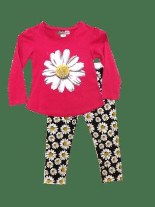 Daisy Tee & Leggings Set-fuchsia - Baby Ziggles