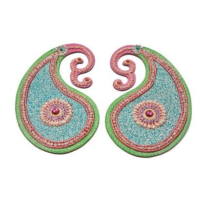 Paisly Pair Rangolli - Color Crave