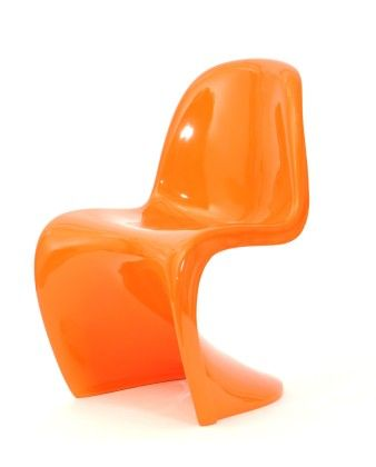 Round The Bend Chair-orange - Tadpoleshome