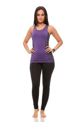 Womens Thick Layered Active Racerback Tank Top - Purple - S2 Sportswear