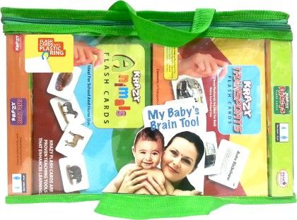 New Born Jumbo Set Of 12 Flash Card - Krazy Flashcards And Games