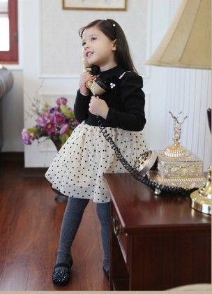Cute Black & White Polka Dotted Dress - Sassy Girl
