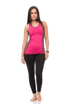 Womens Thick Layered Active Racerback Tank Top - Pink - S2 Sportswear
