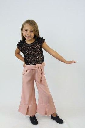 Black And Vintage Rose Lace Bow Jumpsuit - Tutu And Lulu
