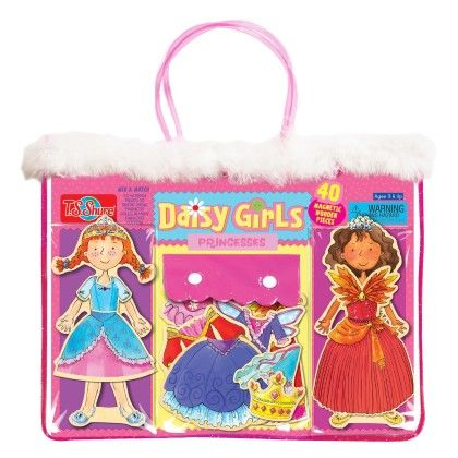 Daisy Girls Princesses Wooden Magnetic Dress-up Dolls - TS Shure