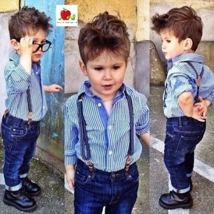 Shirt With Suspenders Jeans Set - Adores