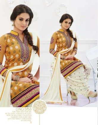 Cotton Patiyala Plain Exotically Dress Material - Fashion Fiesta