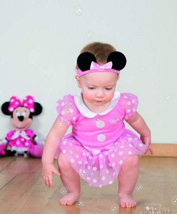 Minnie Mouse Pink Bodysuit With Headband - Travis