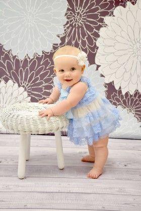 Baby Blue & White Lace Dress - Dress Up Dreams