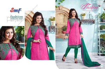 Pink Embroid Salwar Suit With Dupatta - SMF