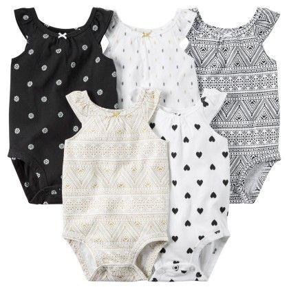 5-pack Sleeveless Bodysuits - Carter's