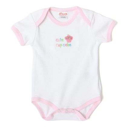 Baby Rompers White & Pink - Mumbo Jumbo
