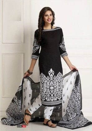 Cotton Printed Beauty Dress Material - Fashion Fiesta