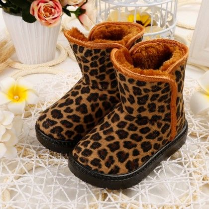 Brown Leopard Print Boots - Oh Pair