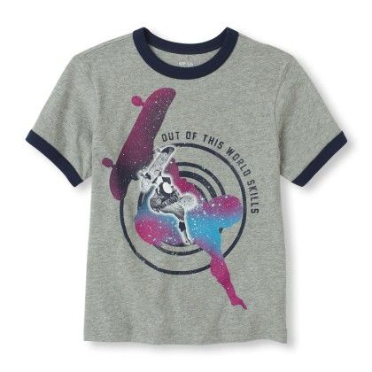 Short Sleeve 'out Of This World Skills' Skateboarding Graphic Tee - The Children's Place