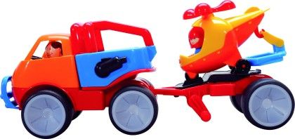 Adventure Car With Helicopter - Big Jig Toys