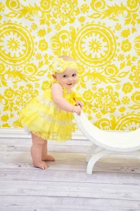 Yellow & White Lace Dress - Dress Up Dreams