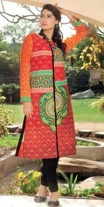 Embroidered Kurti Collection Orange - Mauve Collection