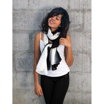 Black And White Ombre Scarf - Pigtails And Ponys