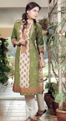 Embroidered Kurti Collection Green - Mauve Collection