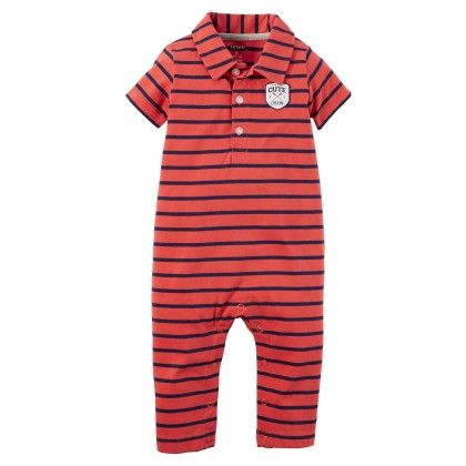 Striped Polo Jumpsuit - Carter's - 220129