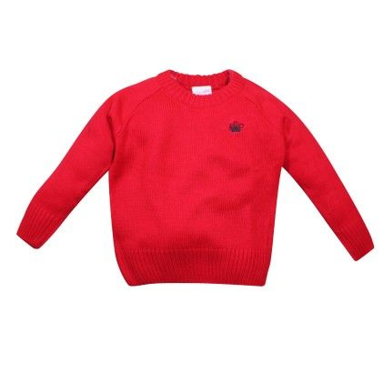 Round Neck Sweater Red - FS Mini Klub