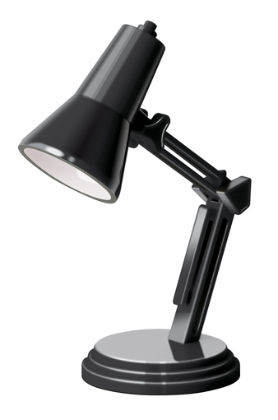 The Book Lamp- Brillant Black - IF