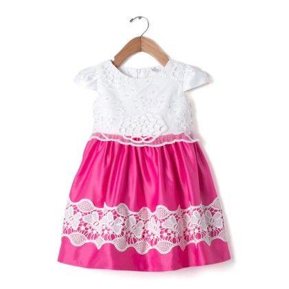 Pink & White Lace Party Dress - Party Princess