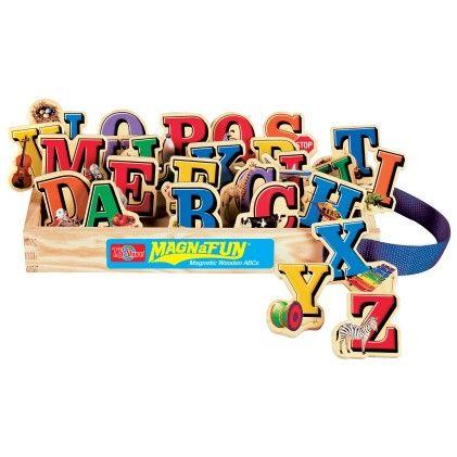Alphabet Letters Wooden Magnets 26 Piece Magnafun Set - TS Shure