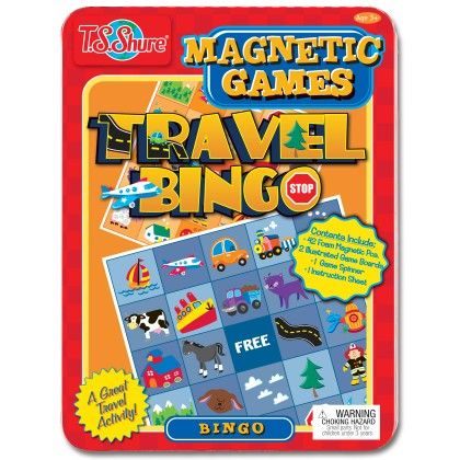 "Travel Bingo Magnetic Game Tin - 5.75""x8""x.75"" - TS Shure"