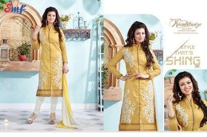 Mustard Embroid Salwar Suit With Dupatta - SMF