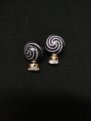Black & White Earrings - Trendy And Style