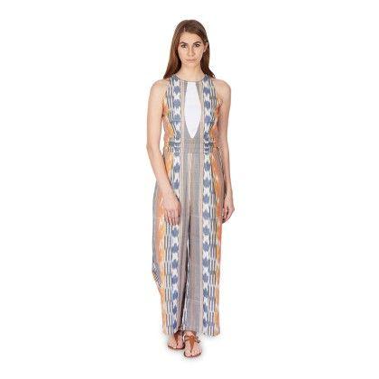 Striped Ikat Jumpsuit - Bhava