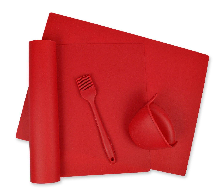 Red 4-piece Kitchen Baking Set - Design Imports
