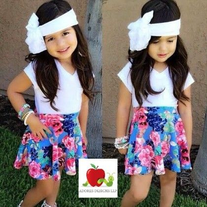 White Top And Floral Clothing Set - Adores