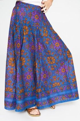 Blue And Purple Floral Ruched Palazzo Pants - Toddler And Girls - Yo Baby