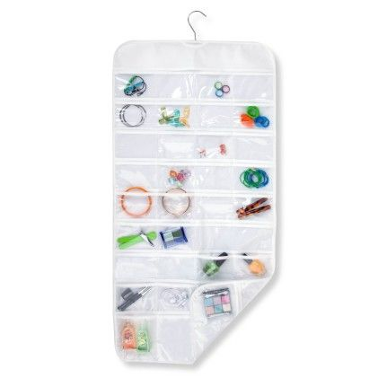 Hanging Jewelry And Accessory Organizer With Hook- 72 Pockets - Honey Can Do