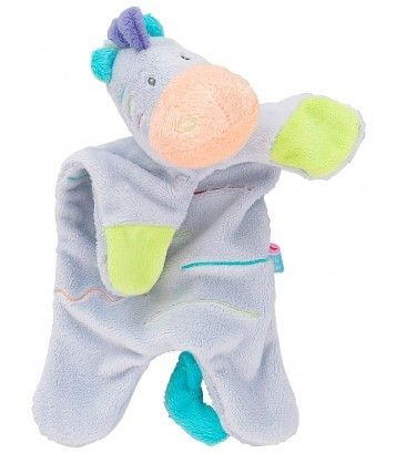 Soft Zebra Soft Toys In Gray - Sucre D'Orge