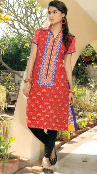 Embroidered Kurti Collection Red - Mauve Collection