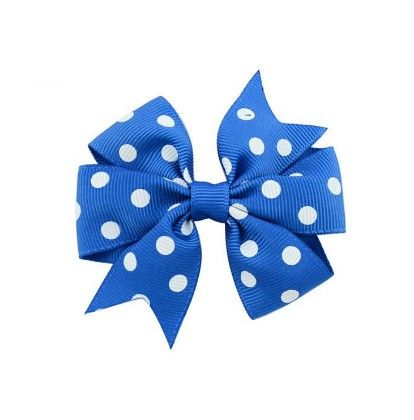 Bow Hair Clip-blue - Flaunt Chic