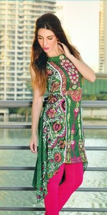 Embroidered Kurti Collection Green - Mauve Collection - 226791