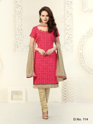 All Over Resham Thread Work With Ready Lace & Printed Dupatta - Touch Trends Ethnic