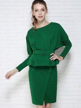 Green Short Dress - Drape In Vogue