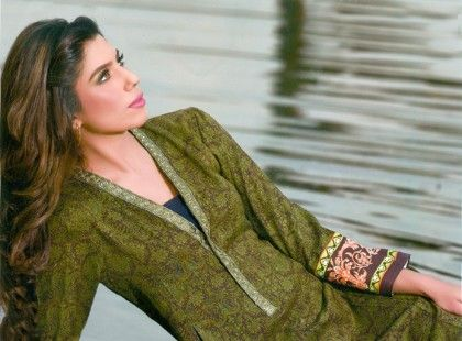 Magnifique Winter Kurti Collection Green - Mauve Collection
