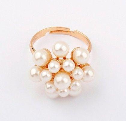 Pearl Flower  Finger Ring - The Dressing Loft