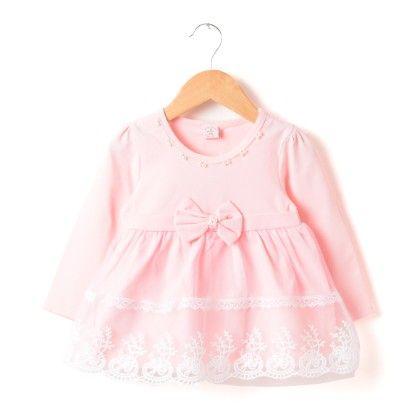 Peach Girl Pretty Pink Lace Dress - Peach Giirl
