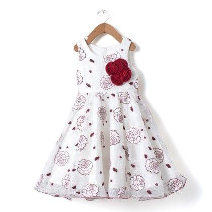 Girls Party Wear Floral Print Net Dress - Madcute